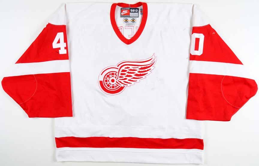 da5f3bc3f3d 1998-99 Bill Ranford Detroit Red Wings Game Worn Jersey - Photo Match - Team