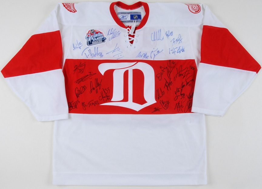 check out 46f72 882a9 Chris Chelios Detroit Red Wings 2009 Winter Classic Team ...