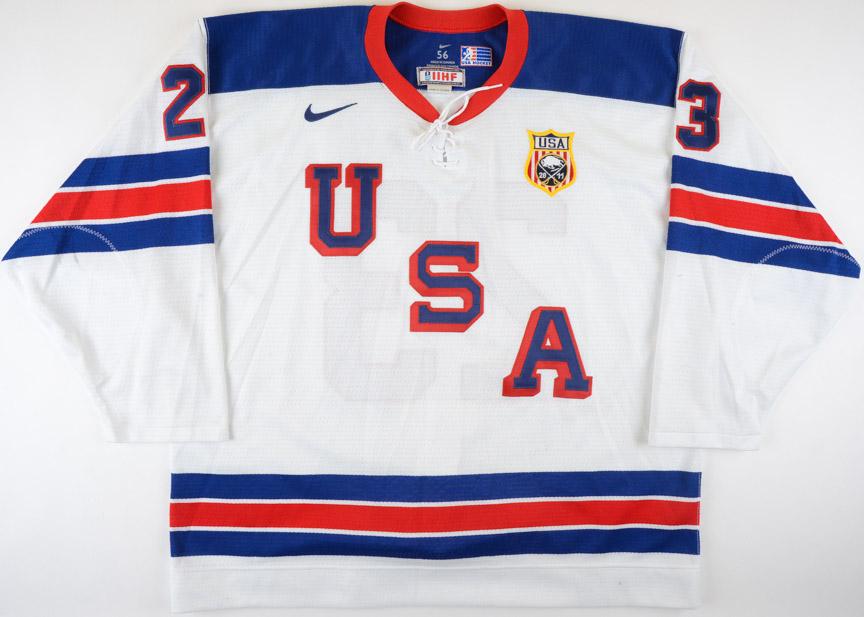 2010-11 Kyle Palmieri Team USA World Junior Championships Game Worn