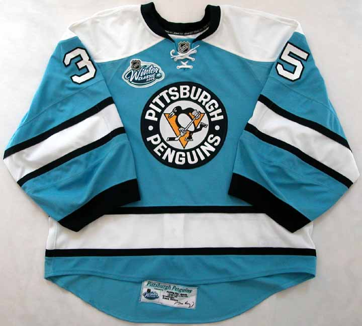 2007-08 Ty Conklin Penguins Game Worn Jersey -