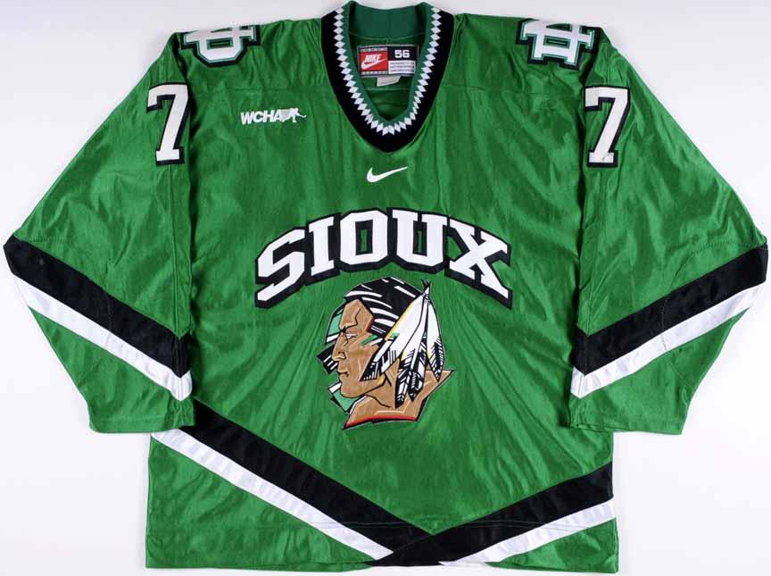 2003-04 Brandon Bochenski University of North Dakota Fighting Sioux Game  Worn Jersey - Team 9c02a9467db