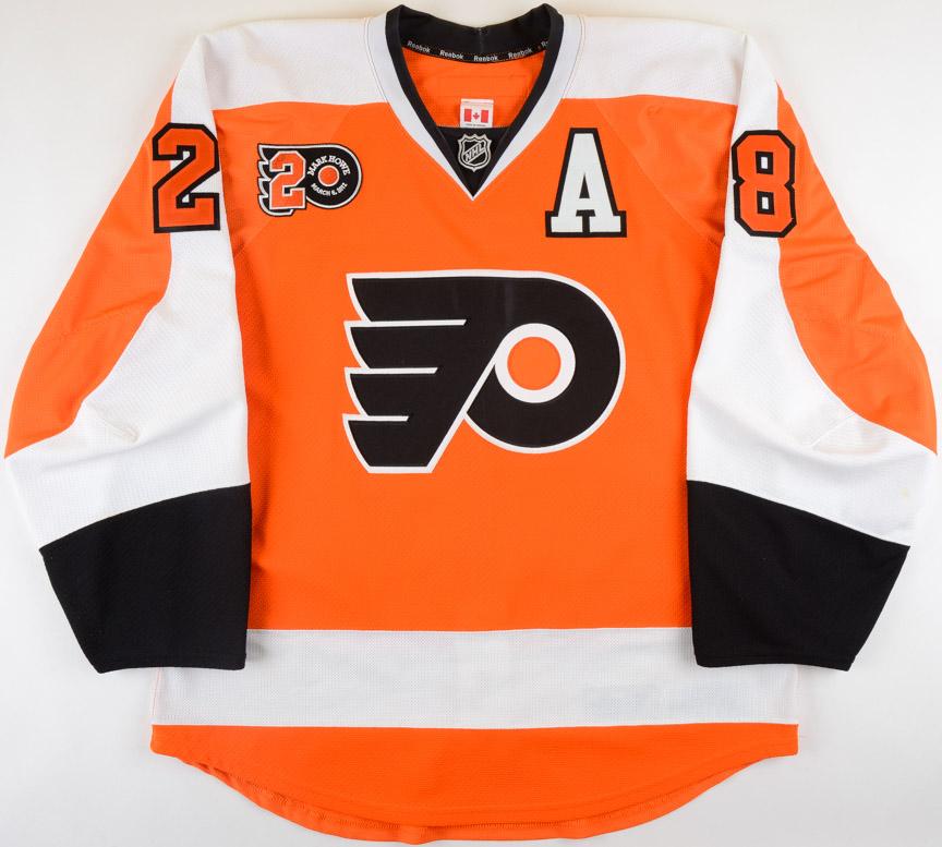 new arrivals d934b b9c21 2011-12 Claude Giroux Philadelphia Flyers Game Worn Jersey ...