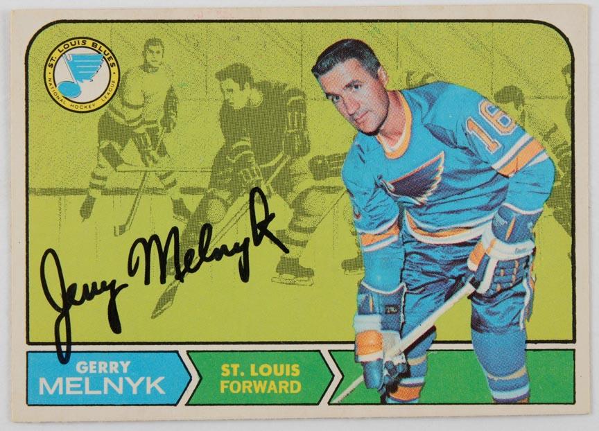 1968-69 OPC Gerry Melnyk St. Louis Blues Autographed Card