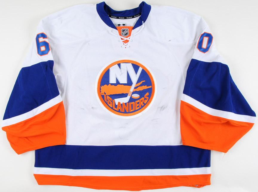 huge discount da7fb 267ec 2010-11 Kevin Poulin New York Islanders Game Worn Jersey ...