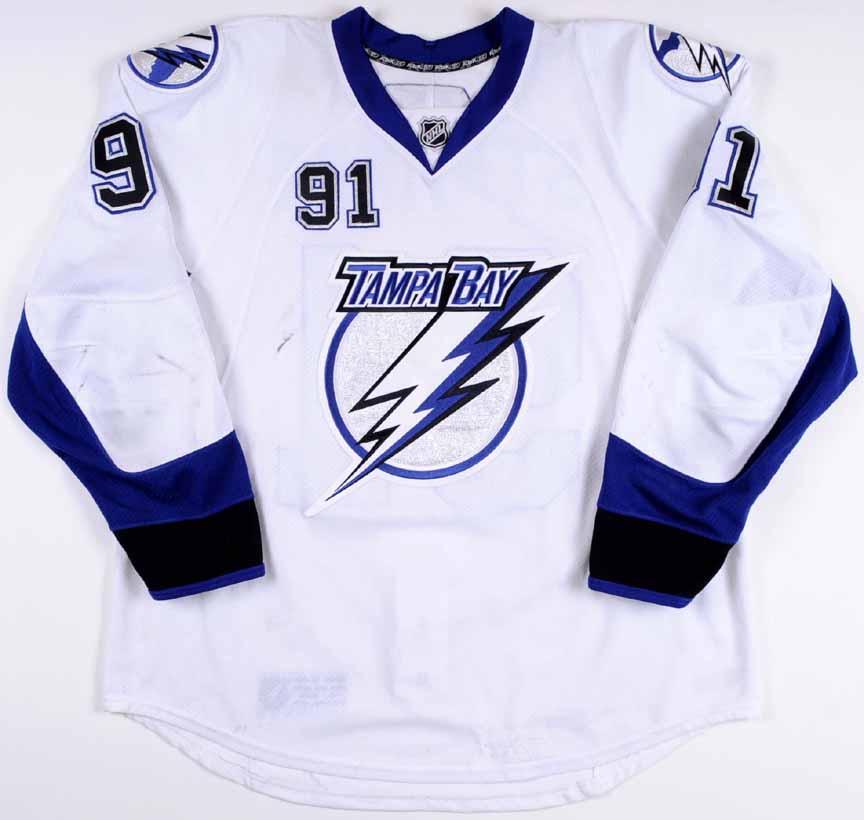 the best attitude 29e21 65f49 2010-11 Steven Stamkos Tampa Bay Lightning Game Worn Jersey ...