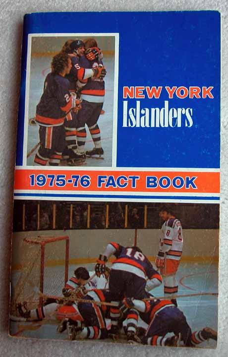 official photos e488c 279b3 1975-76 New York Islanders Team Signed Media Guide/Fact Book ...