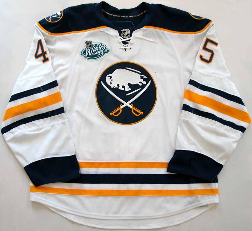 8a88b1f03 2007-08 Dmitri Kalinin Buffalo Sabres Winter Classic Game Worn Jersey -