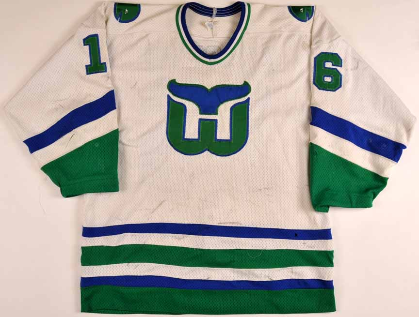 8cd85c15 1983-84 Sylvain Turgeon Hartford Whalers Game Worn Jersey - Rookie - Photo  Match
