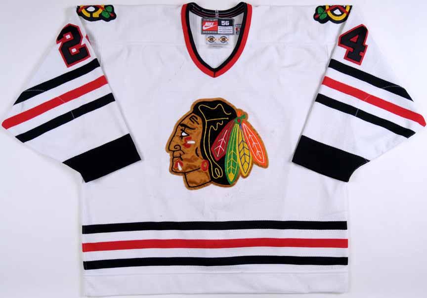 low priced 8a72d 8610c 1998-99 Bob Probert Chicago Blackhawks Game Worn Jersey ...