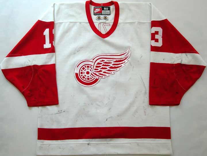 268eaea991e 1998-99 Slava Kozlov Red Wings Game Worn Jersey - Team Letter ...