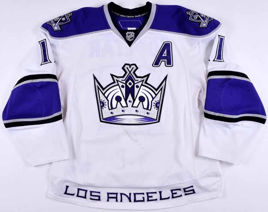 43425865f 2010-11 Anze Kopitar Los Angeles Kings Game Worn Jersey - Photo Match – Team