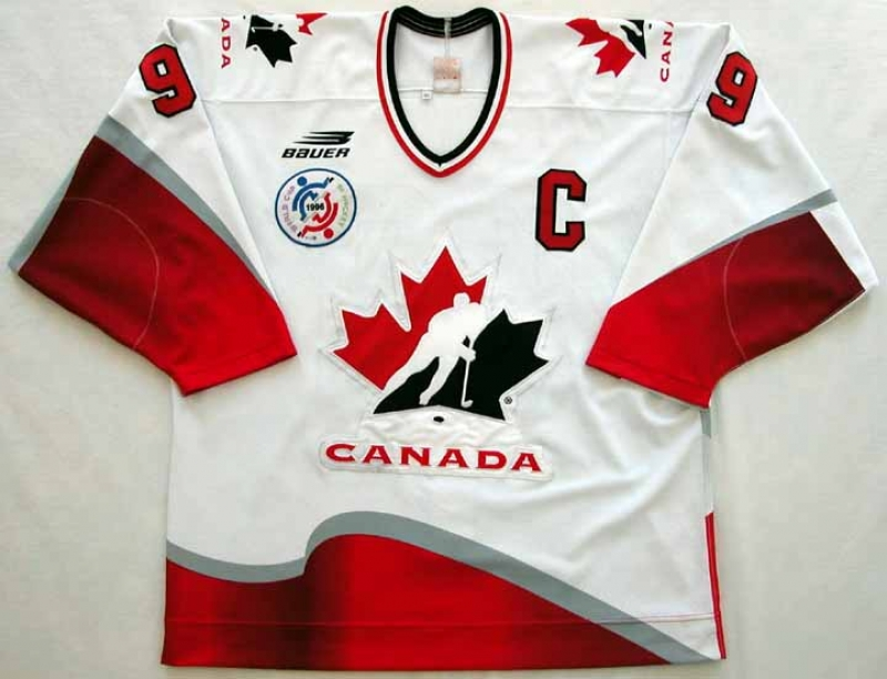 release date cfa82 79299 Wayne Gretzky World Cup Authentic Jersey - 1996 ...