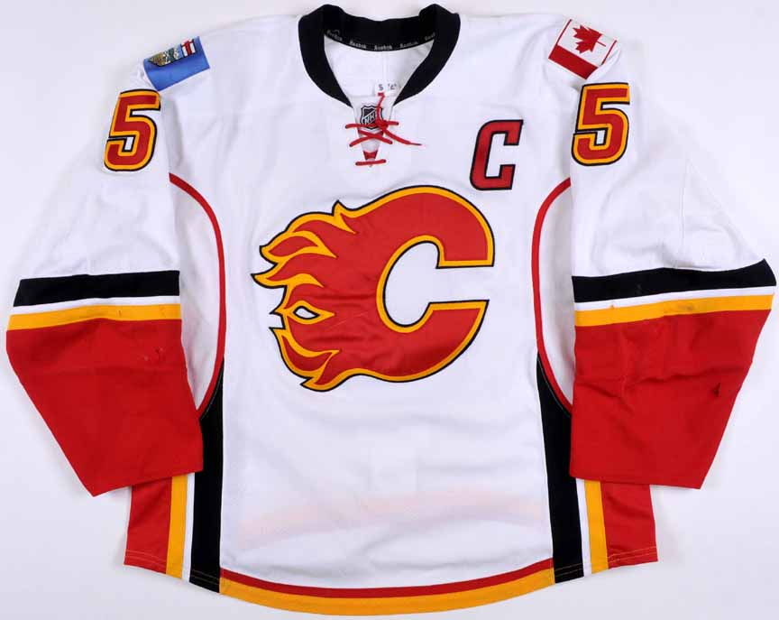 2014-15 Mark Giordano Calgary Flames Game Worn Jersey - All Star Season -  Photo f6610a3c313