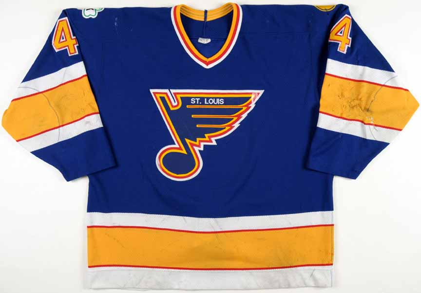 fbf61ff15 ... 1988 89 gordie roberts st. louis blues game worn jersey 8