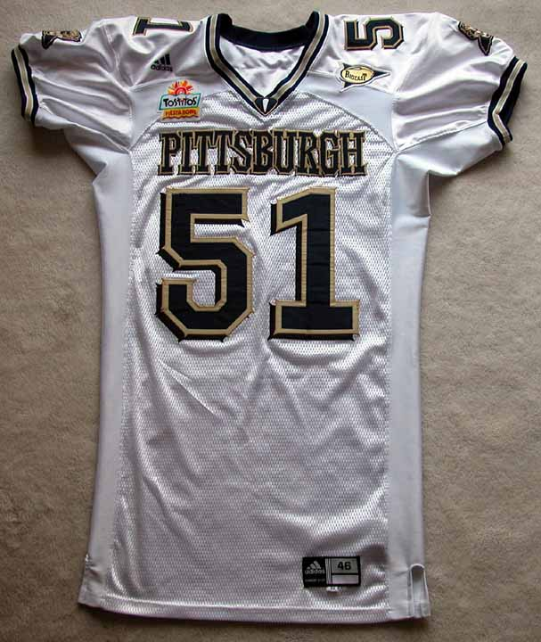 best service f0750 8a836 2004 H.B. Blades Pittsburgh Panthers Game Worn Jersey ...