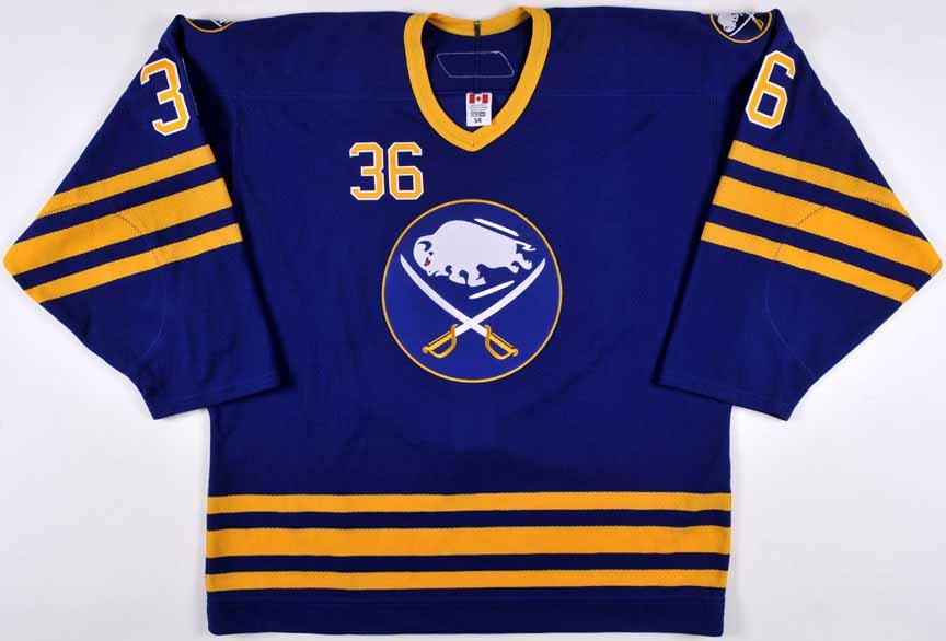 4fe3736a4 2006-07 Patrick Kaleta Buffalo Sabres Game Worn Jersey – Rookie- Alternate