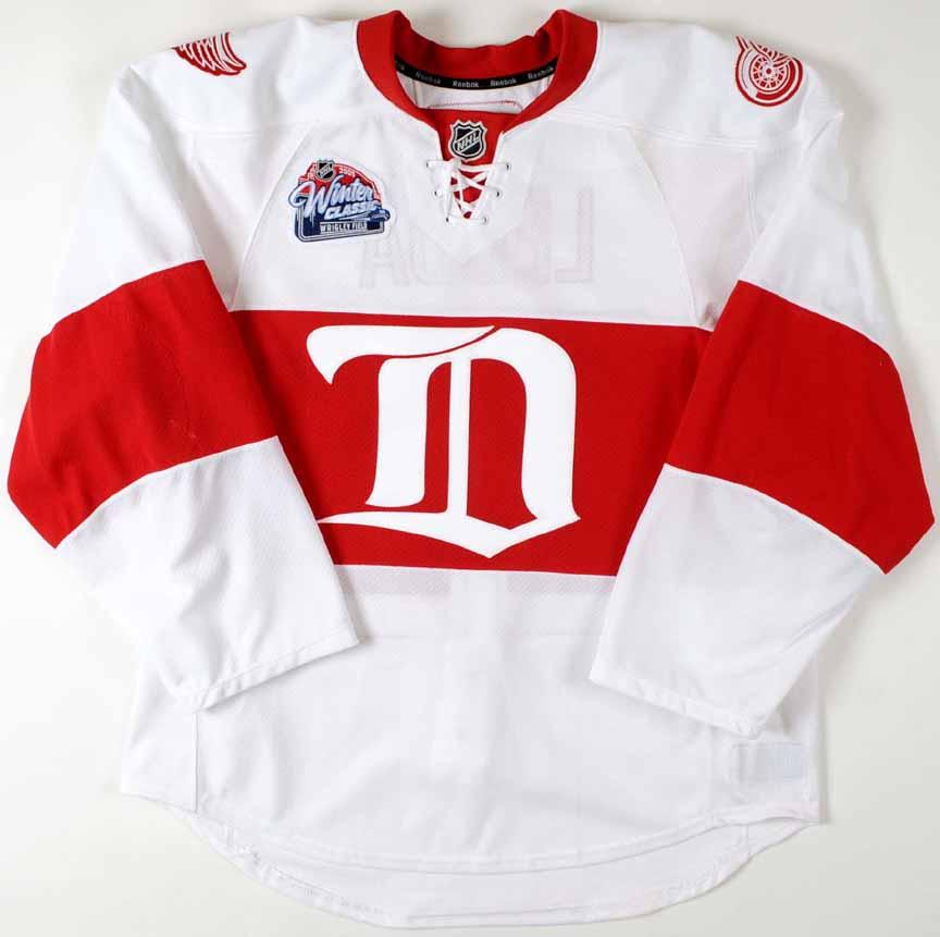2008-09 Brett Lebda Detroit Red Wings Game Worn Jersey -