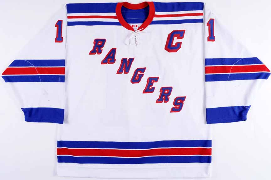 premium selection ebfc4 89d6b 2002-03 Mark Messier New York Rangers Game Worn Jersey ...