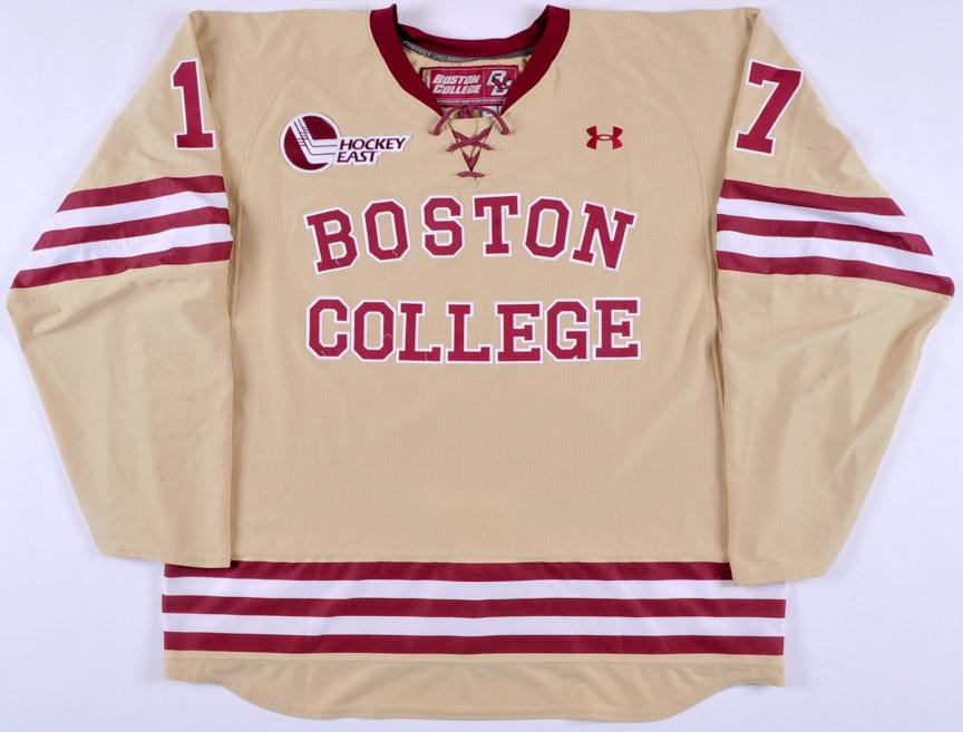 best sneakers 70427 0bbd8 2014-15 Destry Straight Boston College Game Worn Jersey ...