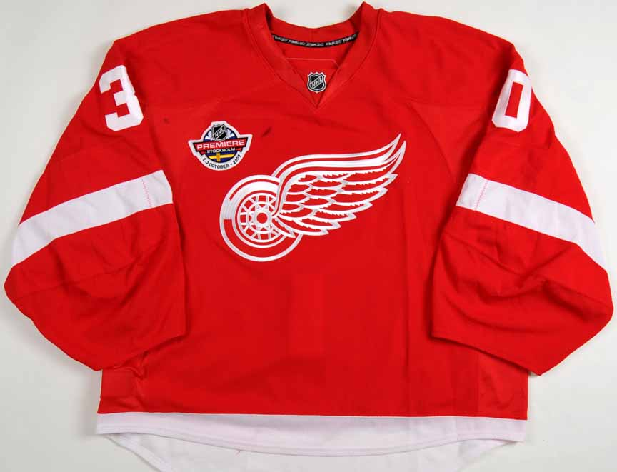 1533efe1e ... promo code for 2009 10 chris osgood detroit red wings game worn jersey  nhl premiere stockholm ...