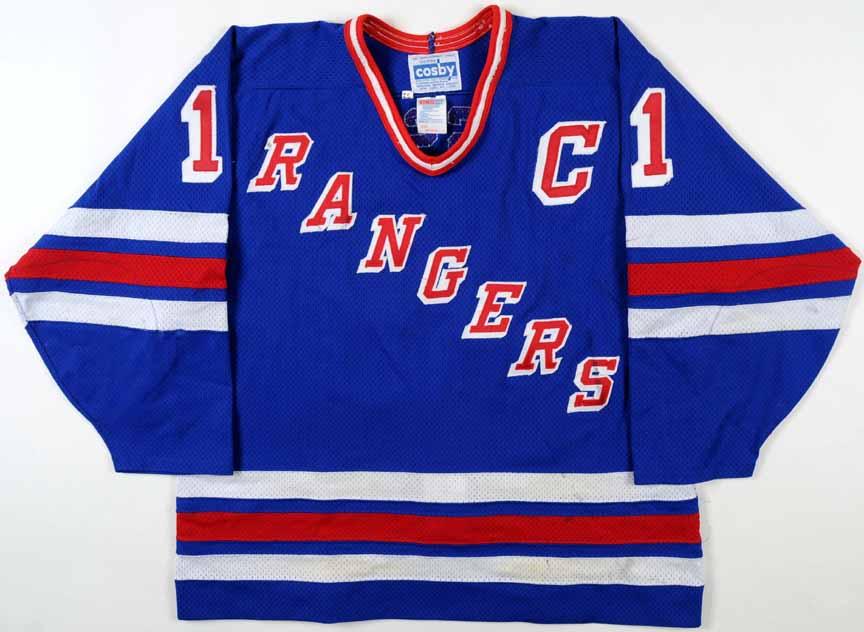 df871b7221b 1994-95 Mark Messier New York Rangers Game Worn Jersey - Photo Match ...