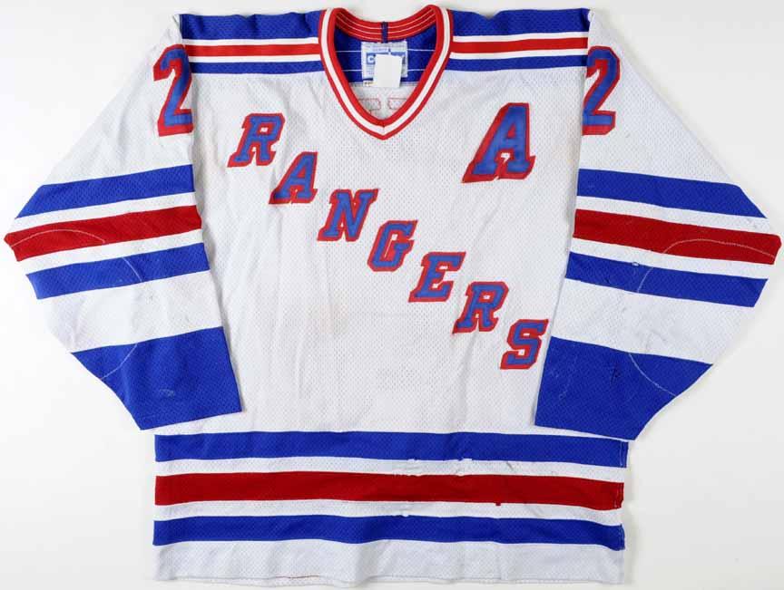 1994-95 Brian Leetch New York Rangers Game Worn Jersey - Video Match ... 19d134868