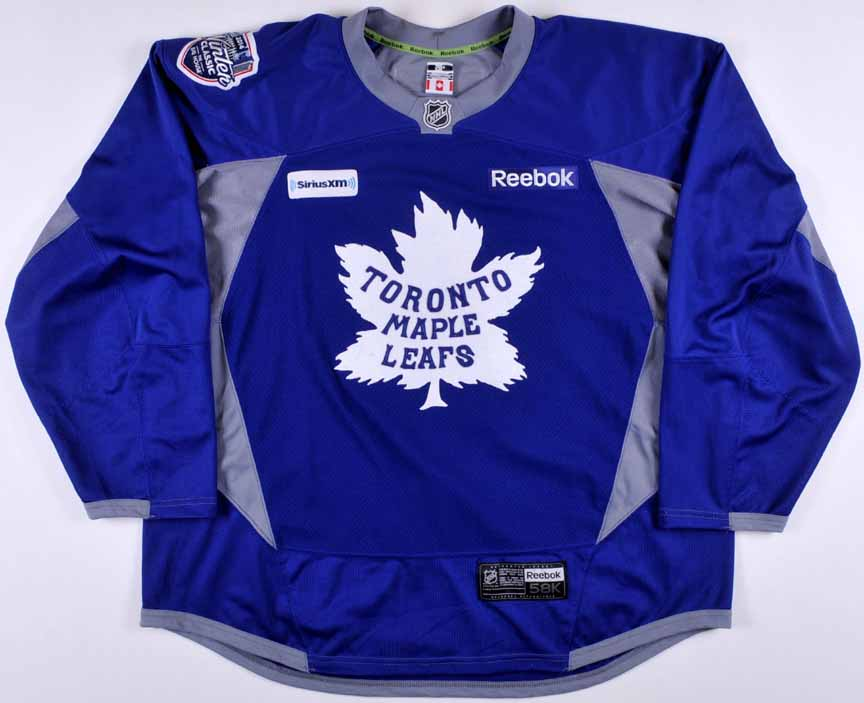 new concept e71ea b4c71 2014 Toronto Maple Leafs Winter Classic Practice Worn Jersey ...