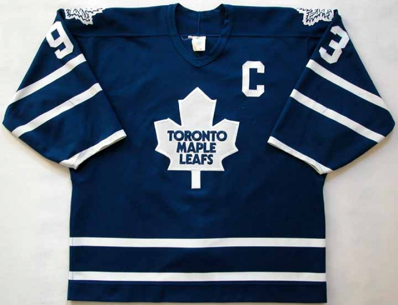 save off 1265a fc31f 1994-95 Doug Gilmour Maple Leafs Game Worn Jersey - Team ...
