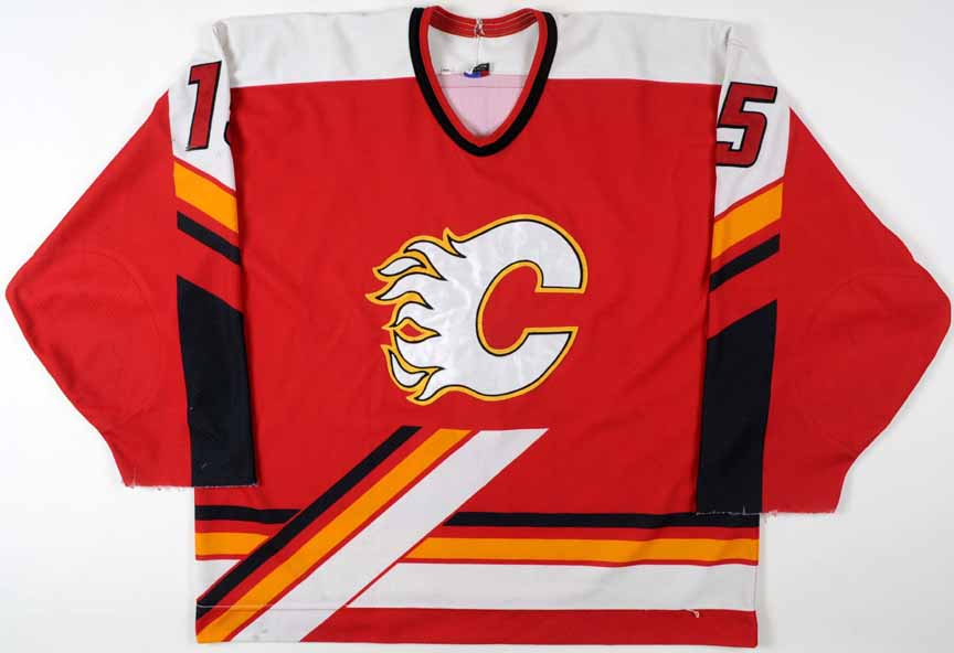 82894e524 1996-97 Sandy McCarthy Calgary Flames Game Worn Jersey - Team Letter ...