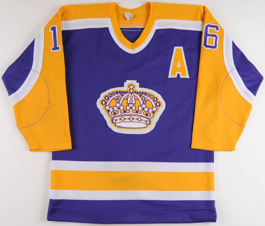 - Matched Gamewornauctions Jersey Kings Dionne Photo net Marcel Angeles Los Game 1984-85 Worn