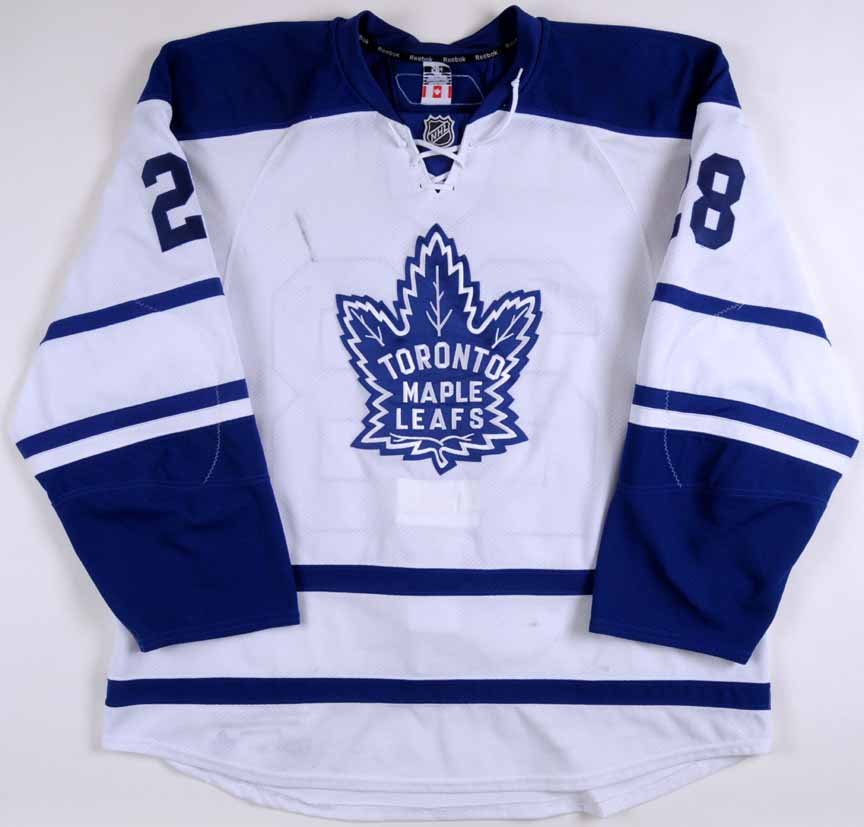 sale retailer f2f74 8723a 2010-11 Colton Orr Toronto Maple Leafs Game Worn Jersey ...
