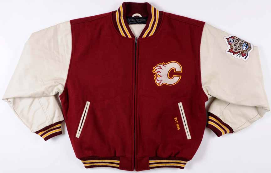 0b75614a7bf 2011 Calgary Flames Heritage Classic Game Issued Coaches Jacket -