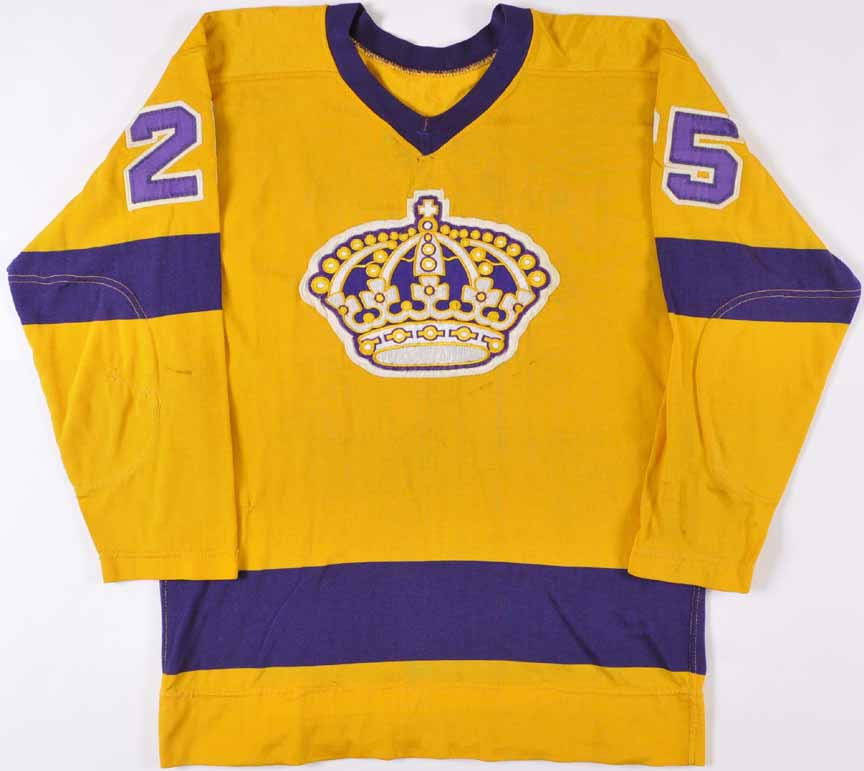 cheap for discount 6ae5a c18d2 1969-70 Leon Rochefort Los Angeles Kings Game Worn Jersey ...