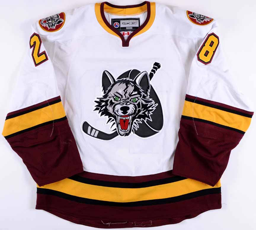 2010-11 Ryan Garbutt Chicago Wolves Game Worn Jersey - Team Letter ... acce3e8a9eb