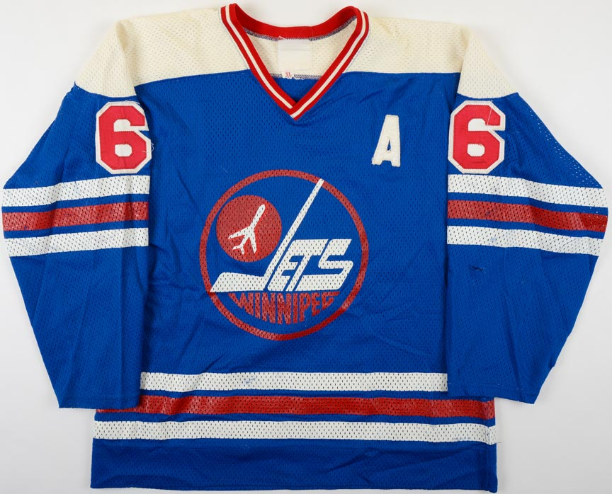 separation shoes ee22c 1fbc3 1978-79 Ted Green WHA Winnipeg Jets Game Worn Jersey - Final ...