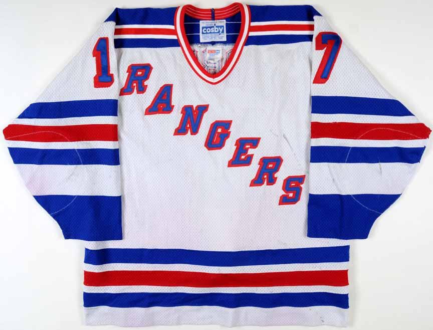 hot sale online 3bd64 f078c 1994-95 Pat Verbeek New York Rangers Game Worn Jersey - Team ...