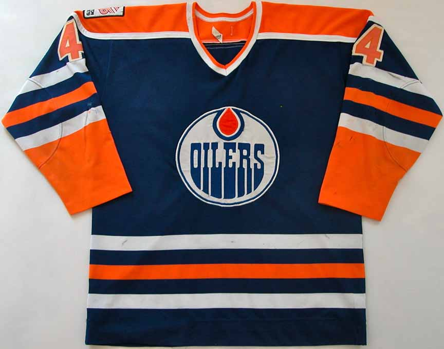 ace2f43d7b6 1979-80 Kevin Lowe Edmonton Oilers Game Worn Jersey - Rookie - 1st Goal in