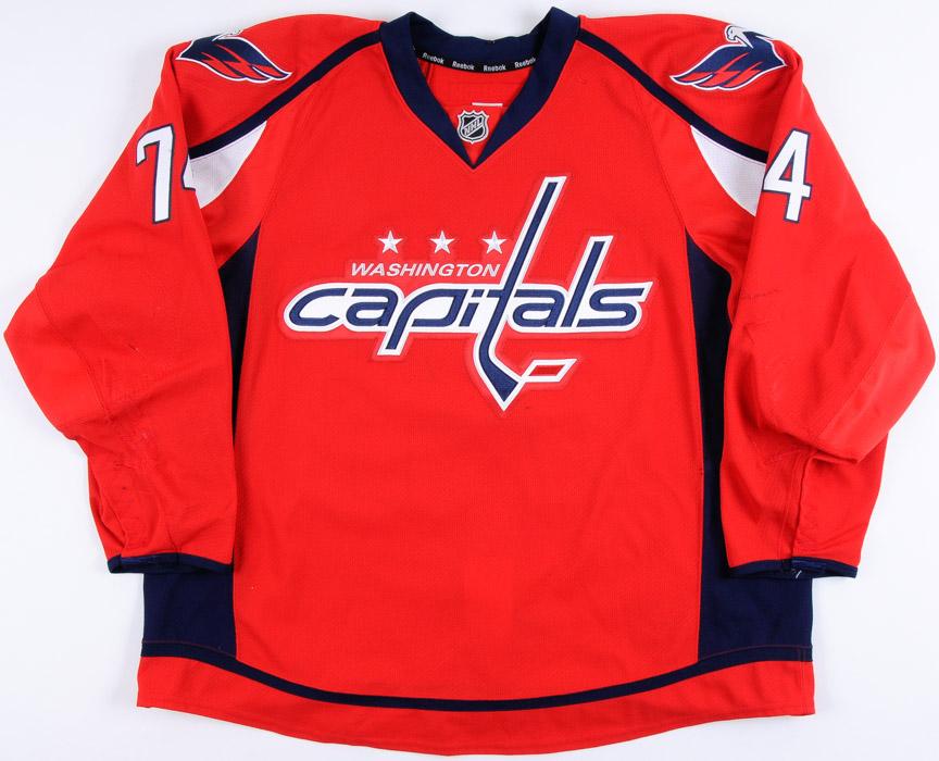 official photos 65987 193c0 2016-17 John Carlson Washington Capitals Game Worn Jersey ...