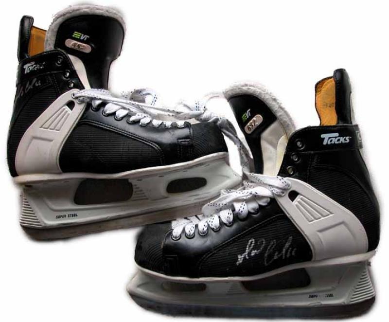 Used Hockey Skates >> Mario Lemieux Game Worn Skates - Autographed ...