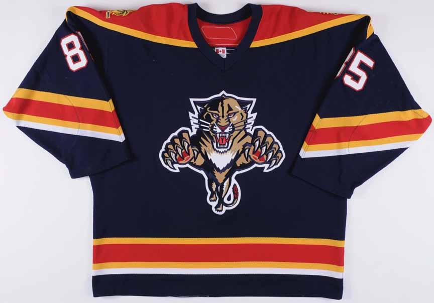 2006-07 Rostislav Olesz Florida Panthers Game Worn Jersey - Team Letter 6d925b22c