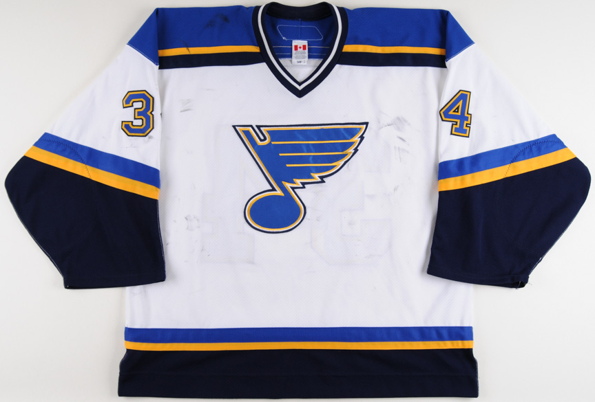 new concept ee593 f1aae 2006-07 Manny Legace St. Louis Blues Game Worn Jersey ...