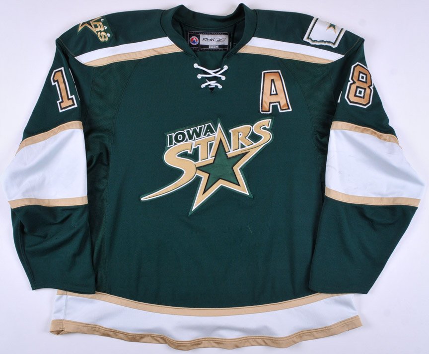 promo code 8b6fa 1d0c6 2007-08 James Neal Iowa Stars Game Worn Jersey - Team Letter ...