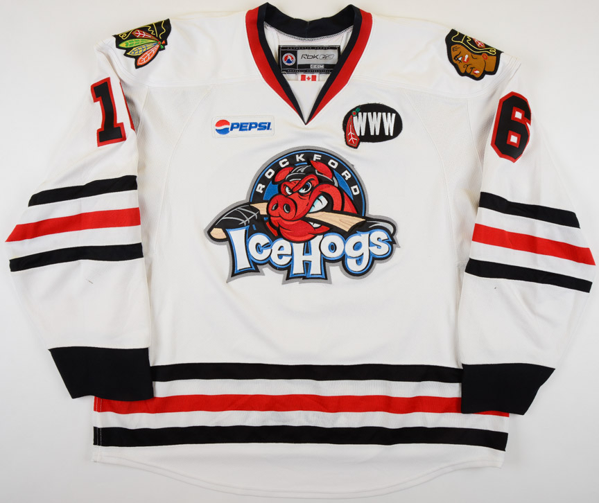 check out edfba c93a3 2007-08 Dustin Byfuglien Rockford Icehogs Game Worn Jersey ...