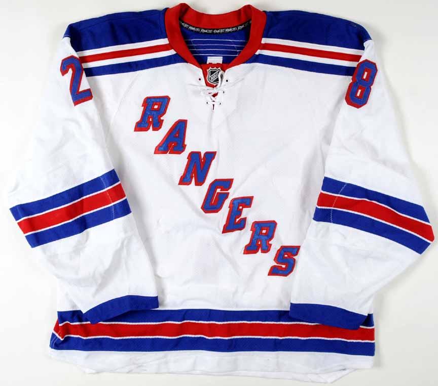 2007-08 Colton Orr New York Rangers Game Worn Jersey - Team Letter ... 28cd870d175