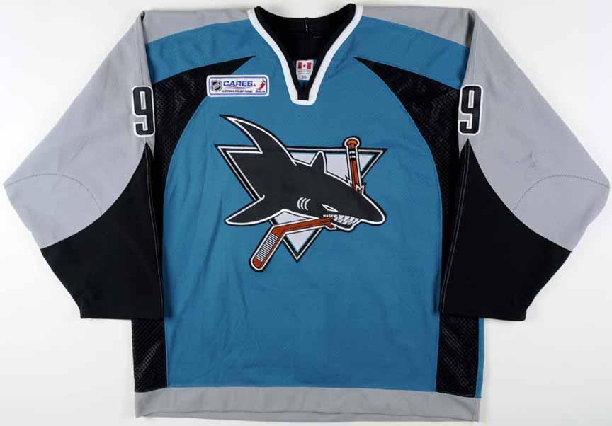 release date 11751 5b221 2005-06 Milan Michalek San Jose Sharks Game Worn Jersey ...
