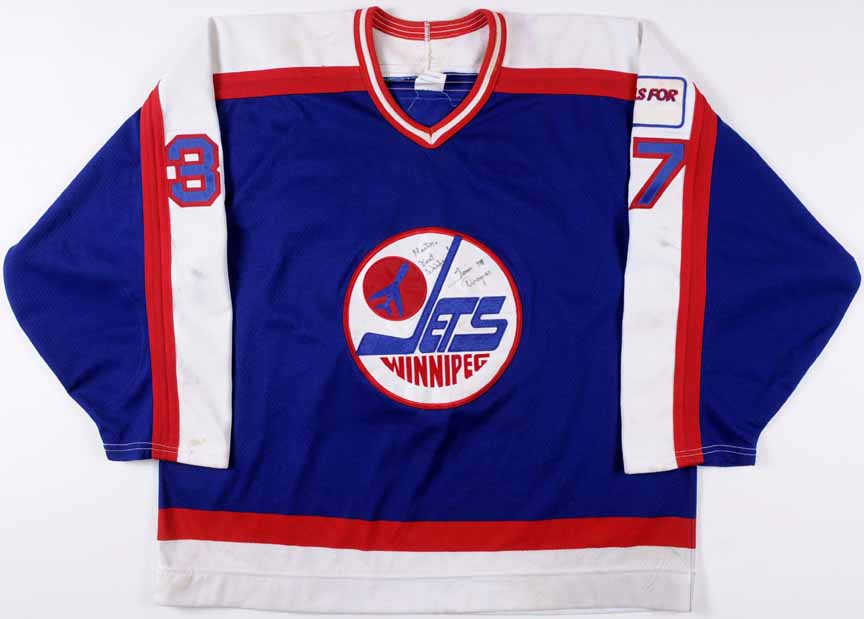 classic fit d4477 d07c1 1989-90 Tom Draper Winnipeg Jets Game Worn Jersey ...