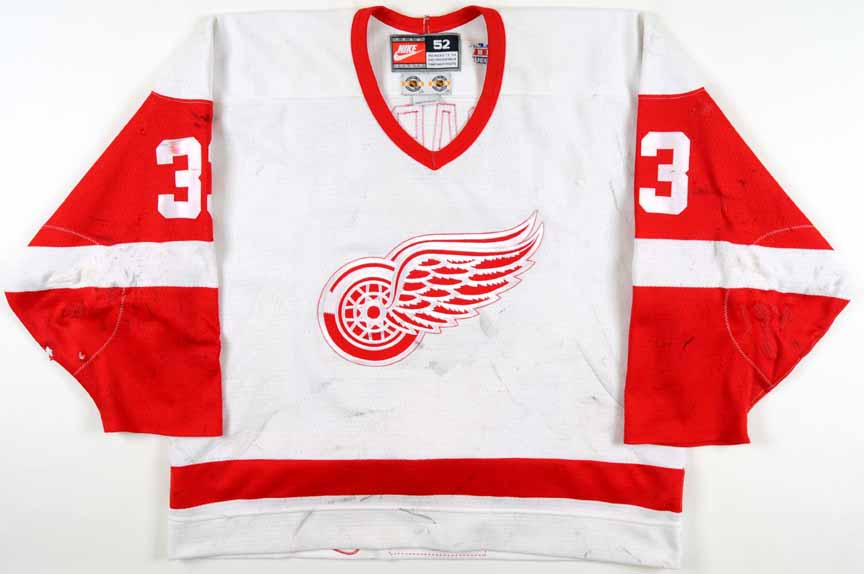 f2838c7c1 1998-99 Kris Draper Detroit Red Wings Game Worn Jersey - Team Letter ...