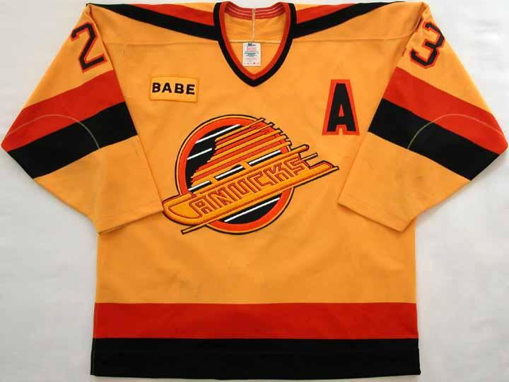 c7579468217 1988-89 Paul Reinhart Canucks Game Worn Jersey -