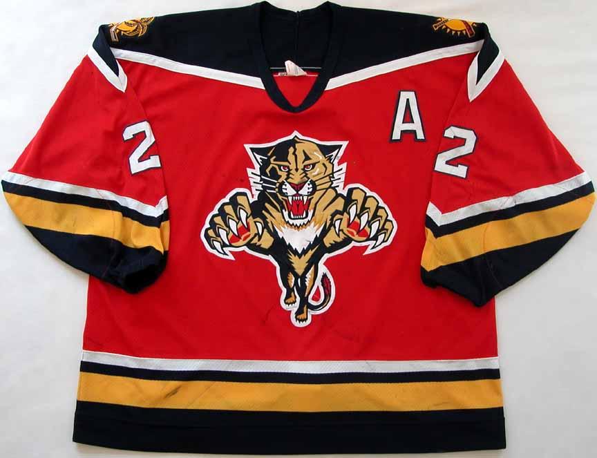 d059a0fe 1993-94 Joe Cirella Florida Panthers Game Worn Jersey - Inaugural ...