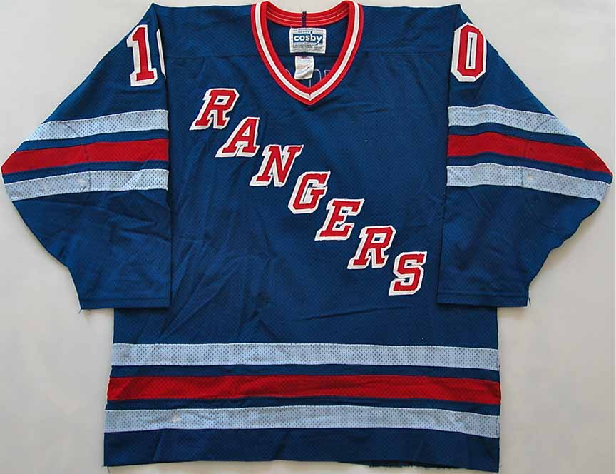 cheap for discount 196f2 256c9 1988-89 Guy Lafleur New York Rangers Game Worn Jersey ...
